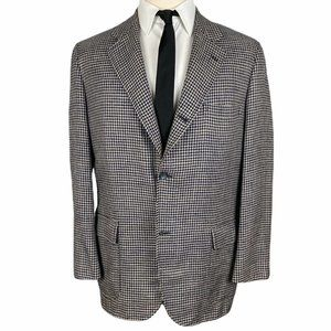 Brooks Brothers Silk Sport Coat 42R Beige Black